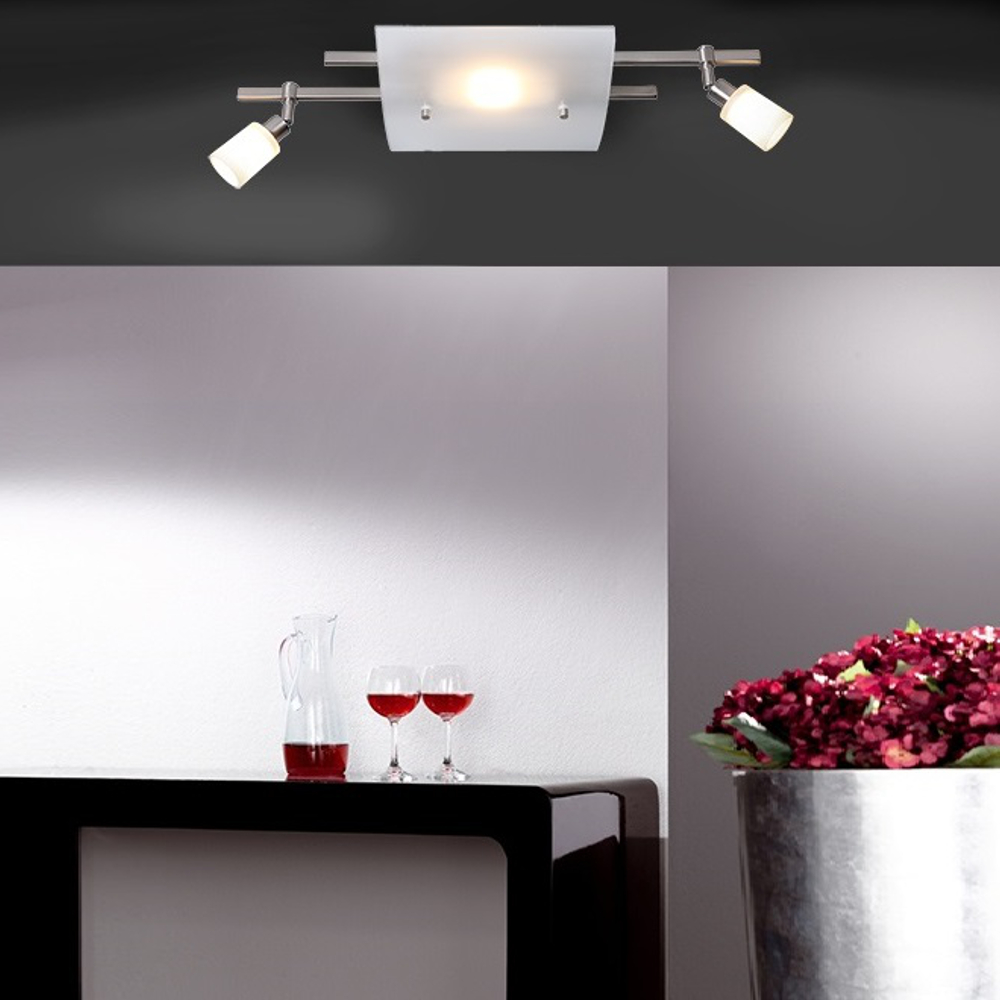 Knapstein LED-Deckenleuchte in 2 Ausführungen, Innenlicht + 2x Deckenstrahler