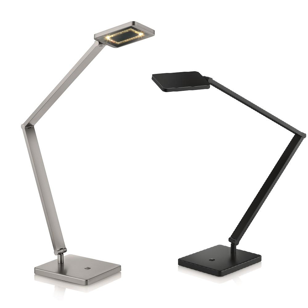 Knapstein LED-Tischleuchte Schreibtischlampe mit Tastdimmer, 1050 Lumen hell
