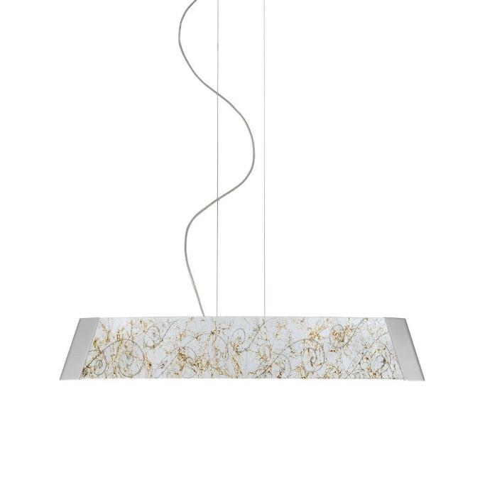 Kolarz LED-Pendelleuchte Barca 90 cm, Glas Medici silver