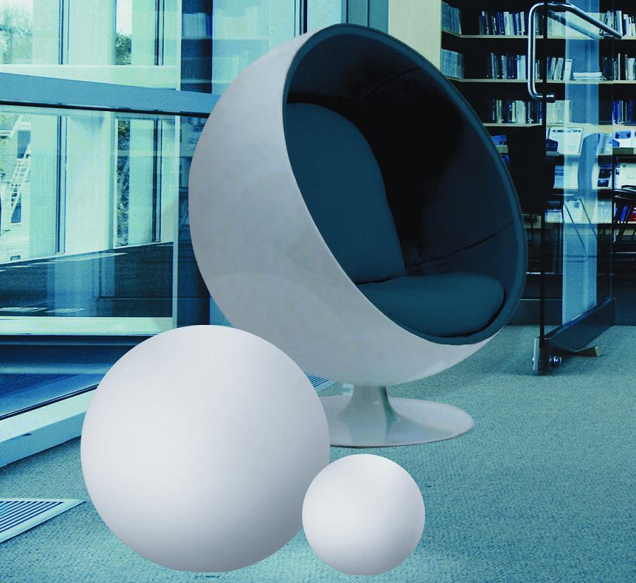 Linea Light Kugelleuchte aus Polyethylen - bruch-beständig, Ø 115cm - Innenbereich Oh 10110 | Lampen > Tischleuchten > Kugelleuchten | Polyethylen | Linea Light