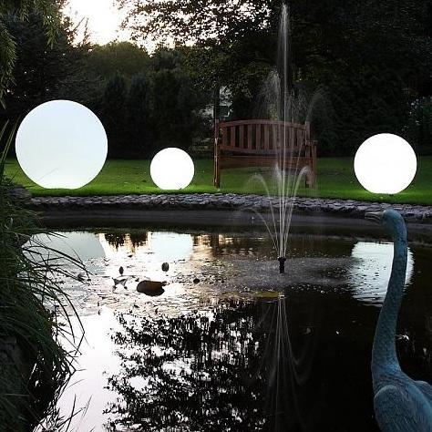 Linea Light Kugelleuchte aus Polyethylen - bruch-beständig - Ø 28cm Oh 15150 | Lampen > Tischleuchten > Kugelleuchten | Polyethylen | Linea Light