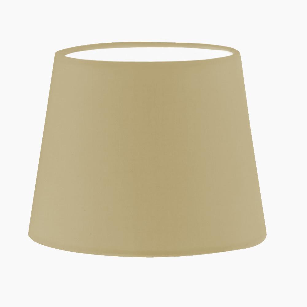 Lampenschirm aus Stoff in Creme