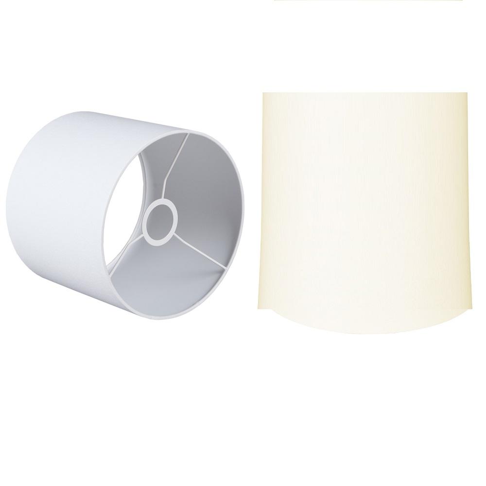 Lampenschirm Zylinder Chintz creme