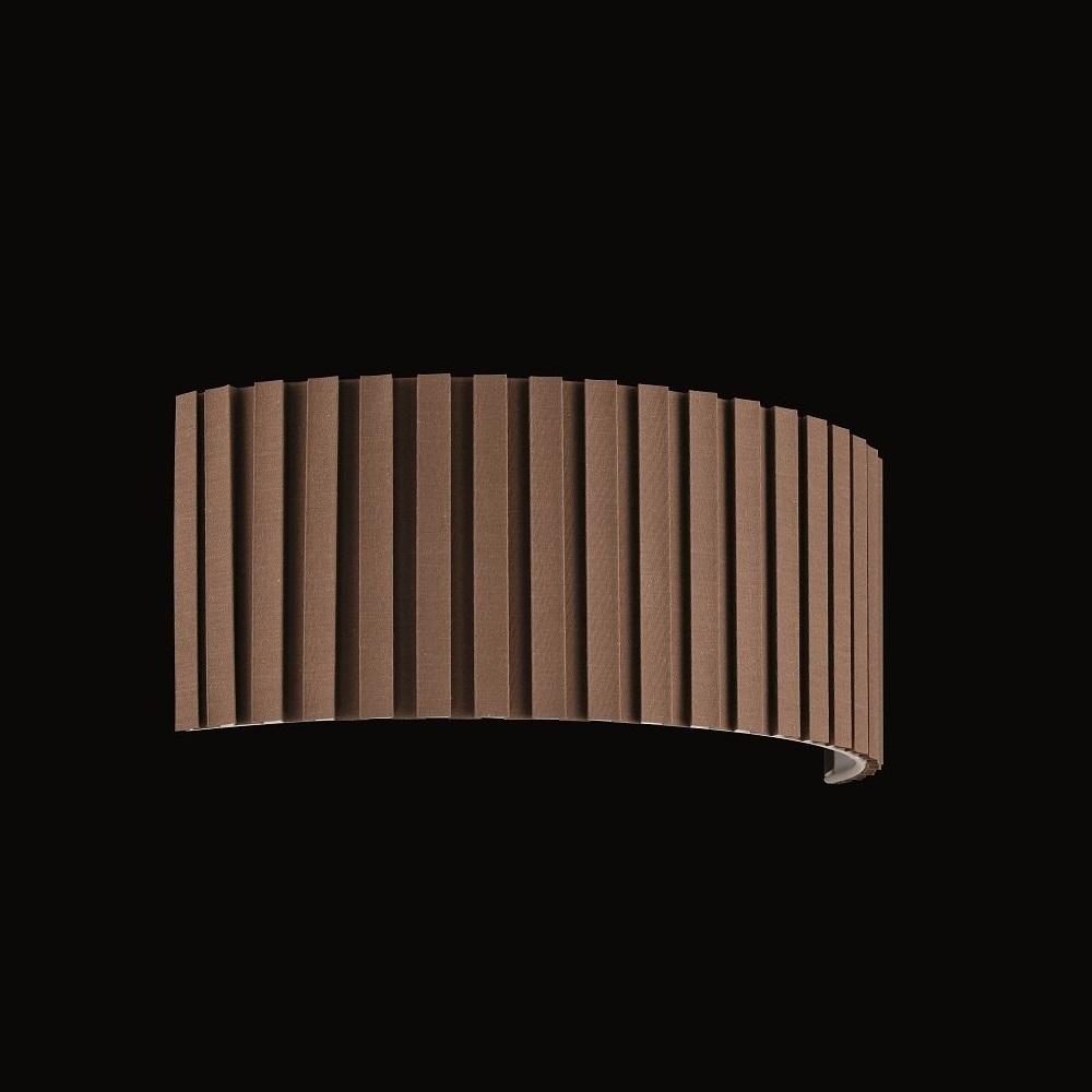 Lampenschirm zur Wandleuchte - Stoffschirm - Plissee Braun-Beige