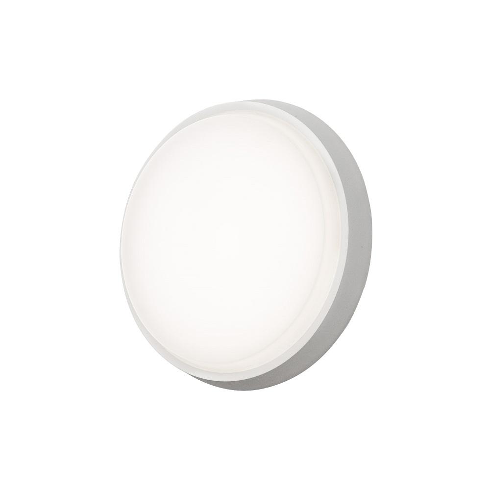 LED Außenleuchte, Acryl-Opalglas, Wand- o. Deckenmontage, D=17,5cm