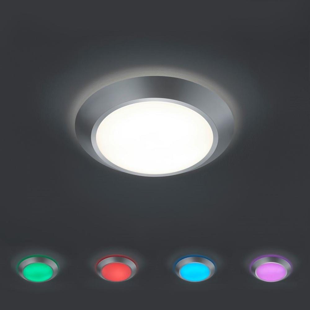LED Deckenleuchte aus titanfarbenem Kunststoff