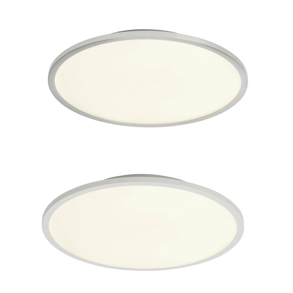 LED Deckenleuchte Ceres D 35 cm - Weiß oder Nickel satiniert