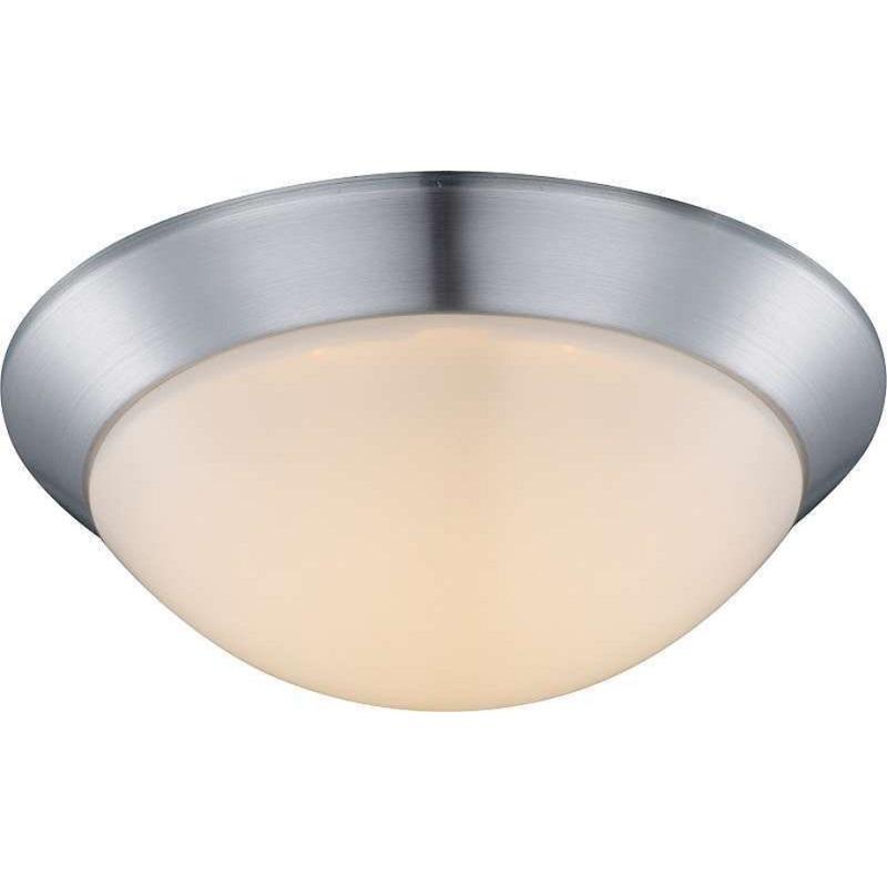 LHG LED Deckenleuchte rund 26cm Nickel matt/Opalglas, 1x12W LED