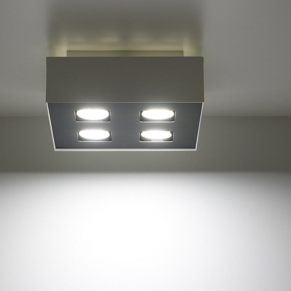 LHG LED Deckenleuchte, modern, schwarz/ weiß, 3-flammig