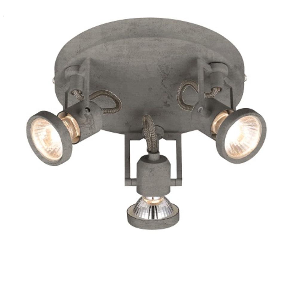 Gut Spot Light LED Deckenstrahler Concreto Beton Optik, Ø 19cm, 3 Flammig 3x  4,5 Watt, 19,20 Cm 272833