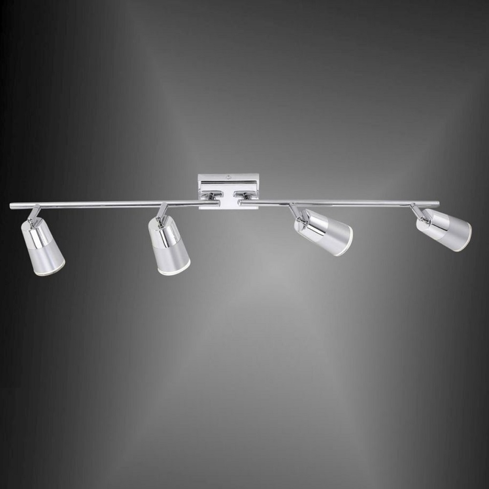 LED Deckenstrahler Dalli, 4 Spots, schwenkbar, warmweiß, modern