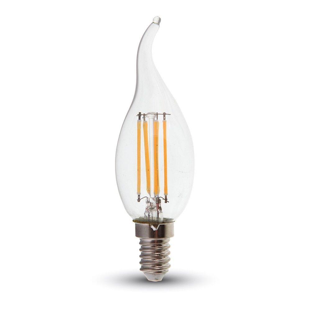 LED E14 Kerze in Windstoßoptik 4 Watt  400 Lumen