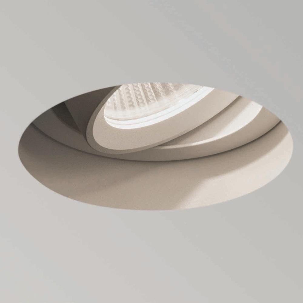 LED Einbaustrahler, rahmenlos, weiß, rund, dimmbar, Ausschnitt D=8cm