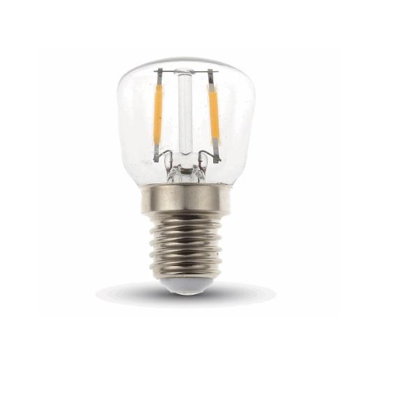 LED Filament E14 Birnenformlampe klar 2 Watt 180 Lumen