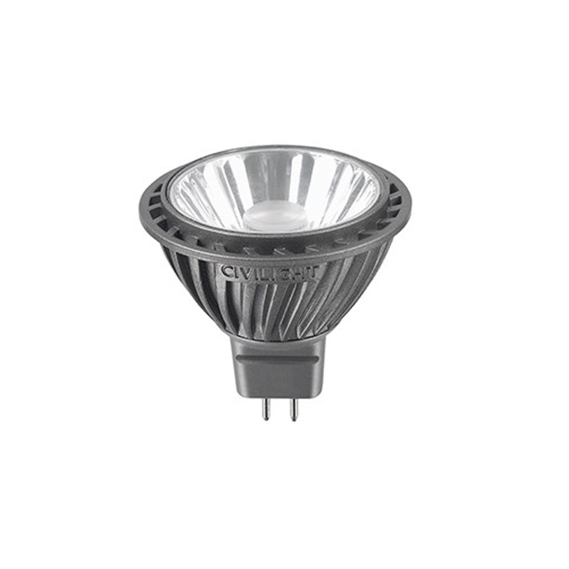 LED GU5,3, Civilight  7Watt ~ 35Watt  - 345Lm - 12V - 2700K - 36° - dimmbar