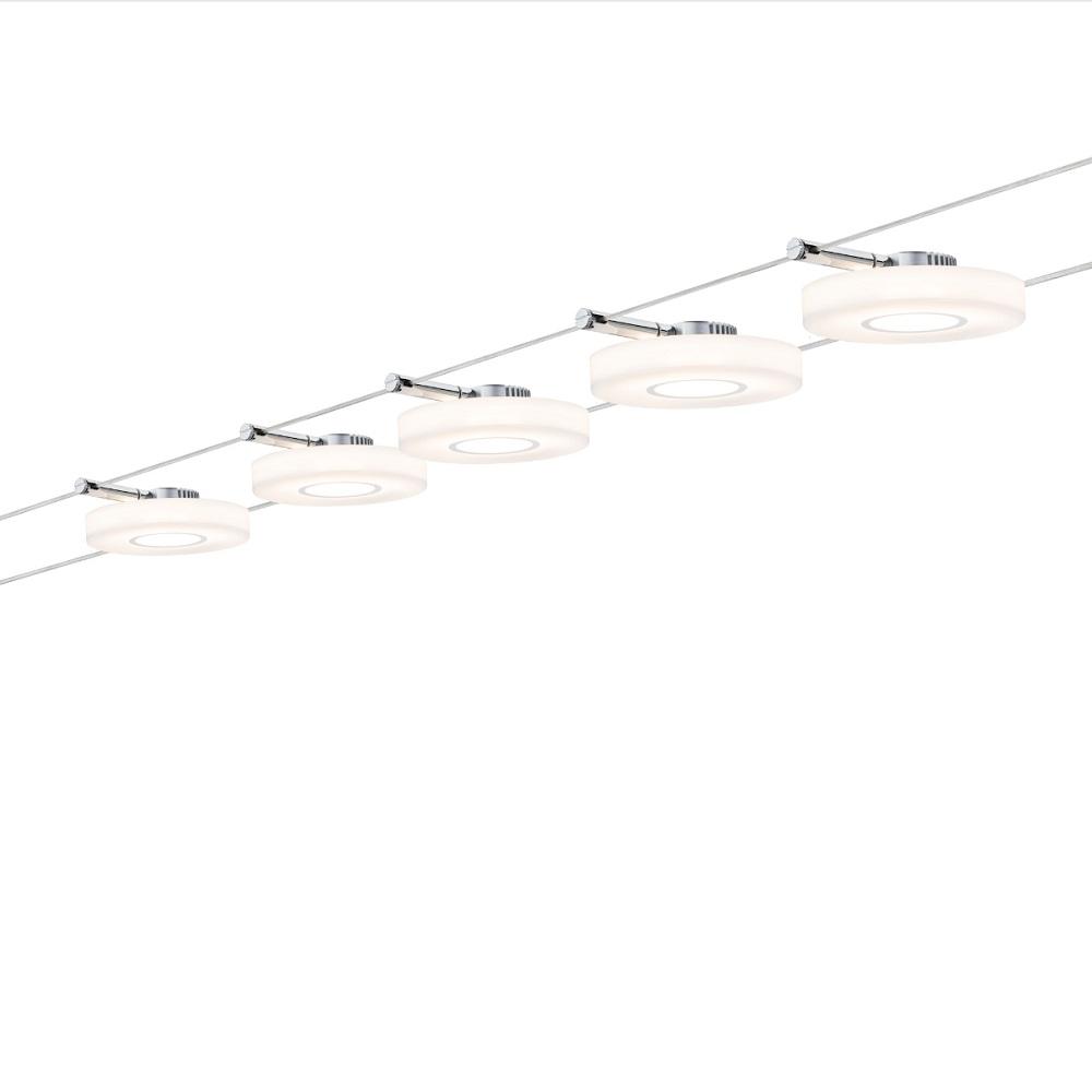 Paulmann LED Komplett-Seilsystem Wire Chrom-Satin, max. 5 Meter 941.09 | Lampen > Strahler und Systeme > Seilsysteme | Chrom | Paulmann
