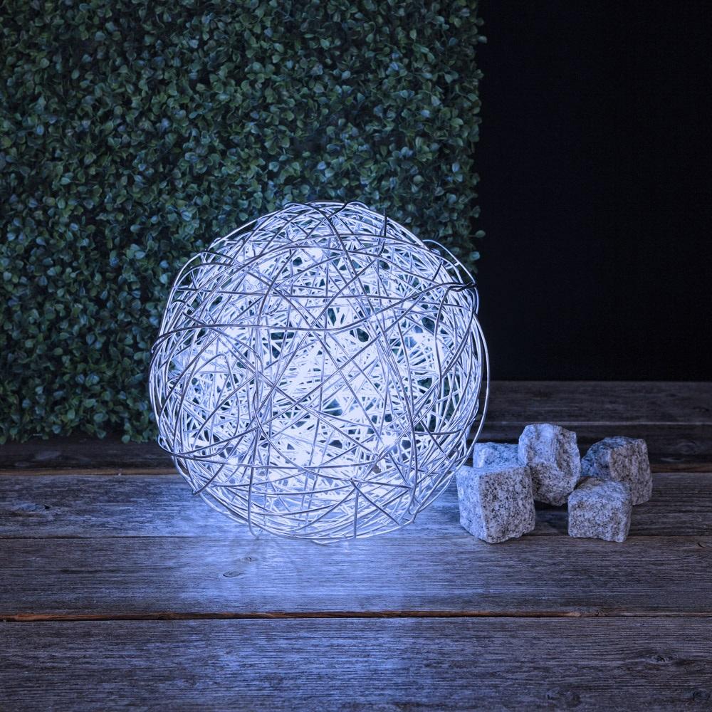 LED Kugelleuchte aus Aluminiumgeflecht für den Außenbereich