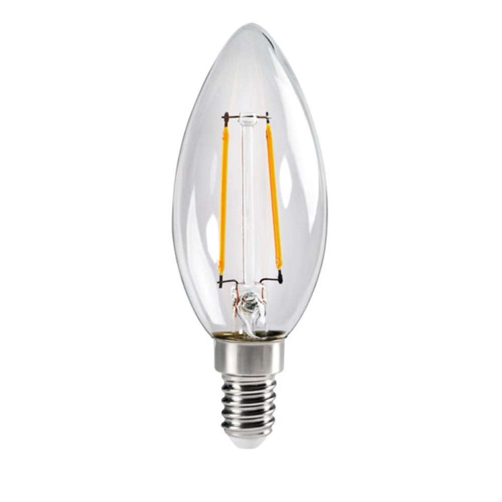 LED Leuchtmittel, E14, Kerzenform, klar, neutralweiß, 4,5W