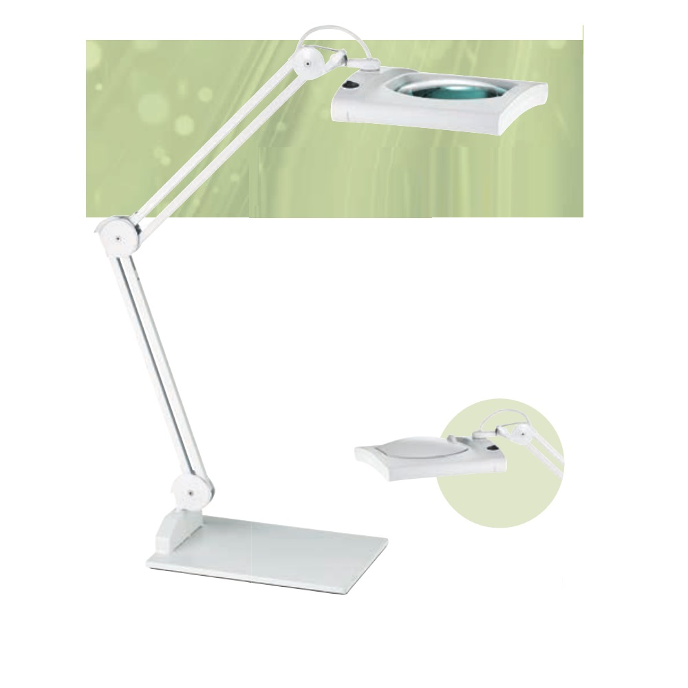LED Lupenleuchte in Weiß - 12,4W