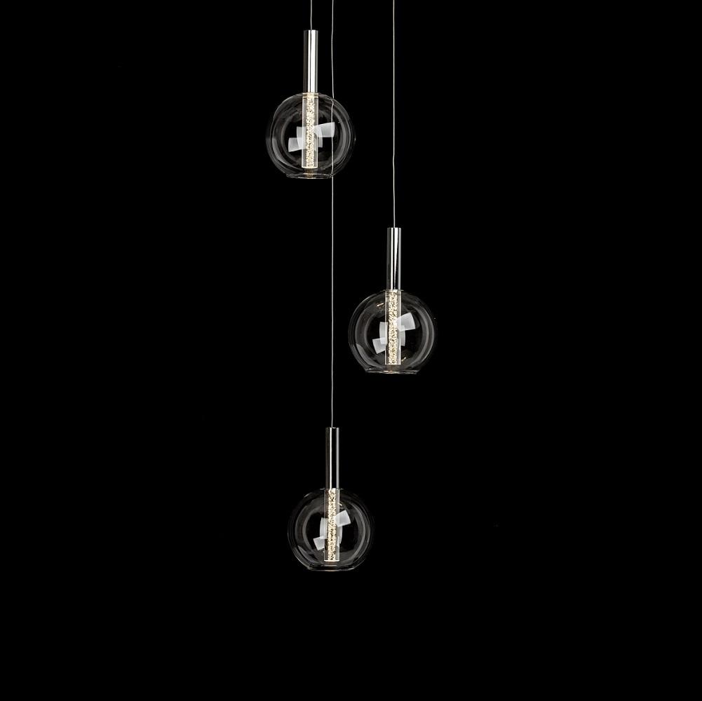 LED Pendelleuchte Elegant mit Glaskugel