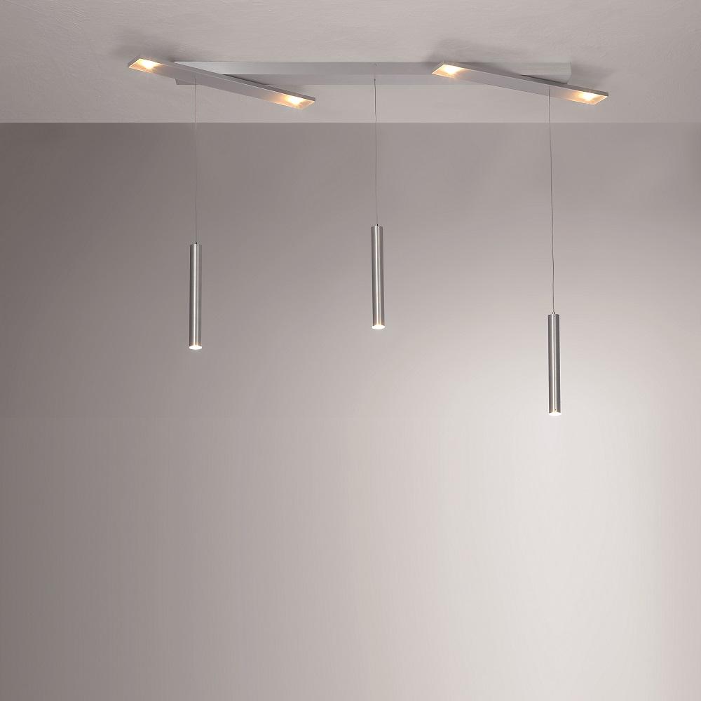 LED Pendelleuchte Plus aus Aluminium mit 3 Pendeln