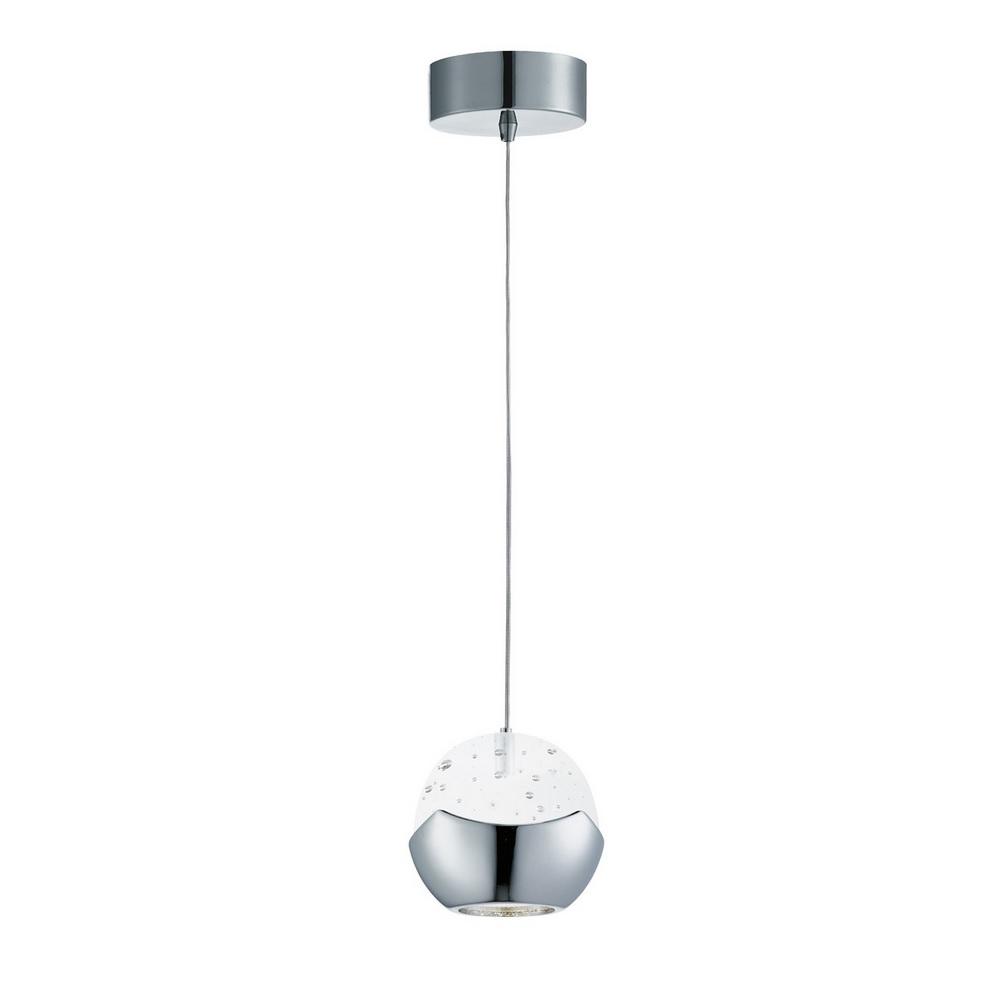 LED Pendelleuchte - Glas gefrostet - 1-flammig - LED 6 Watt