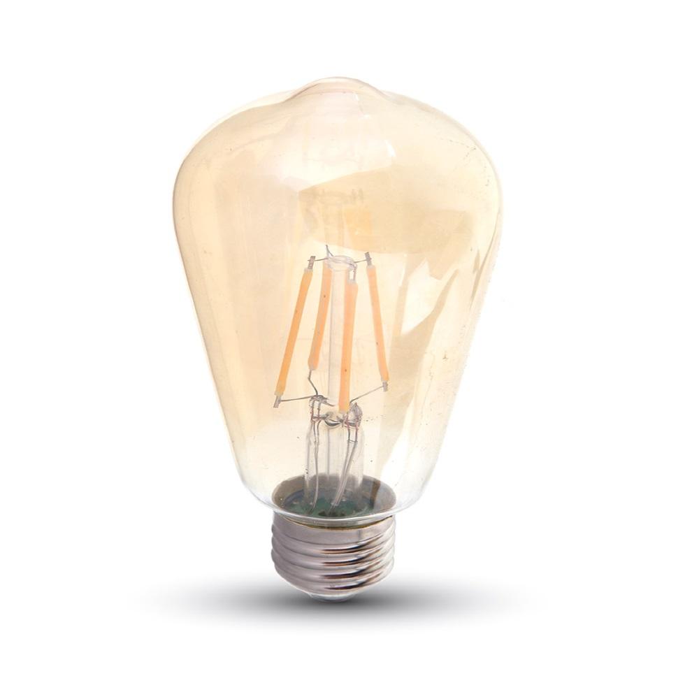 LED Rustika Filament E27 amberfarbig mit 6 Watt 500 Lumen
