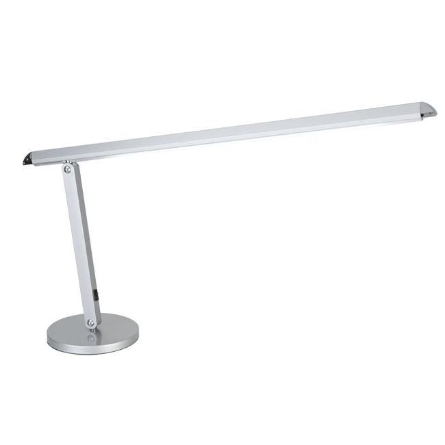 LED Schreibtischleuchte, schlank, Aluminium, LED warmweiß, verstellbar