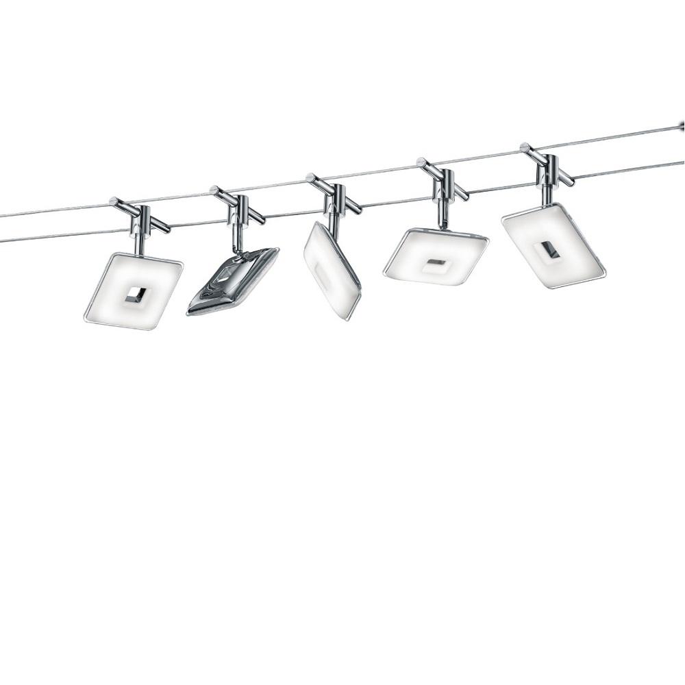 Trio LED Seilsystem Pontius komplett Pontius 775810506 | Lampen > Strahler und Systeme > Seilsysteme | Trio