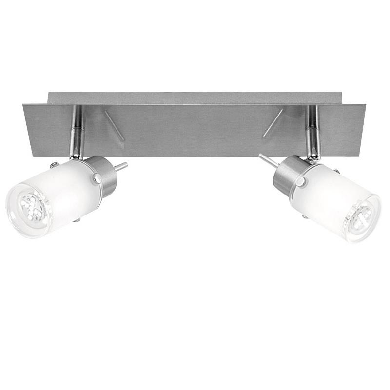 LHG LED Strahlerserie - 2-flammiger Wand- oder Deckenspot - Inklusive LED-Leuchtmittel + LED Taschenlampe