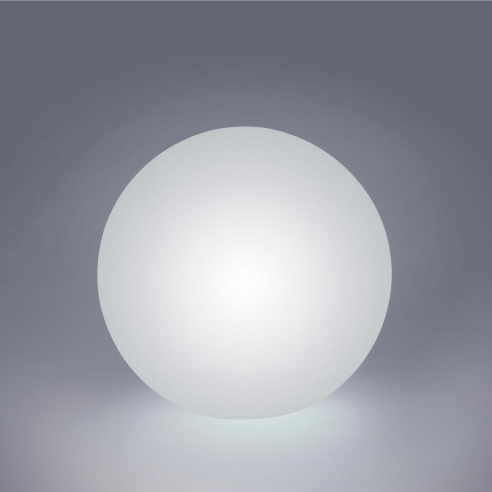LED Tischleuchte, D 30cm, weiß, Smart Home, RGBW, Fernbedienung, Kugel