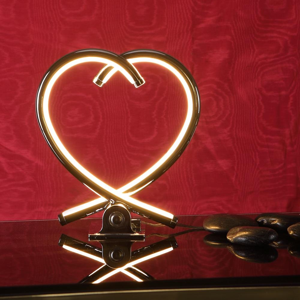 LED Tischleuchte, Herz, Touchdimmer, 2 Ausführungen