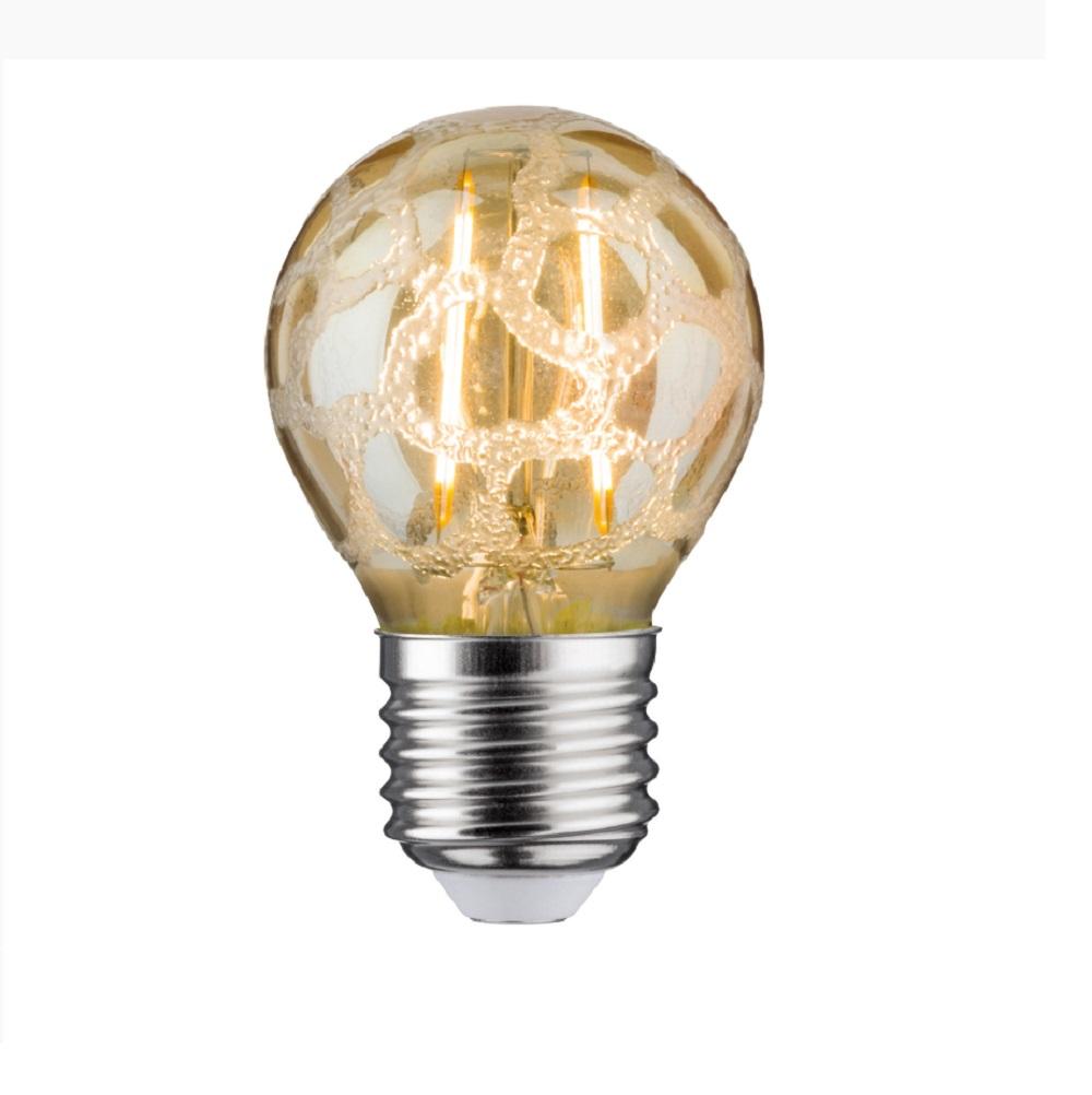 LED Tropfen 2,5 Watt E27 Krokoeis Gold 230V Warmweiß, A+