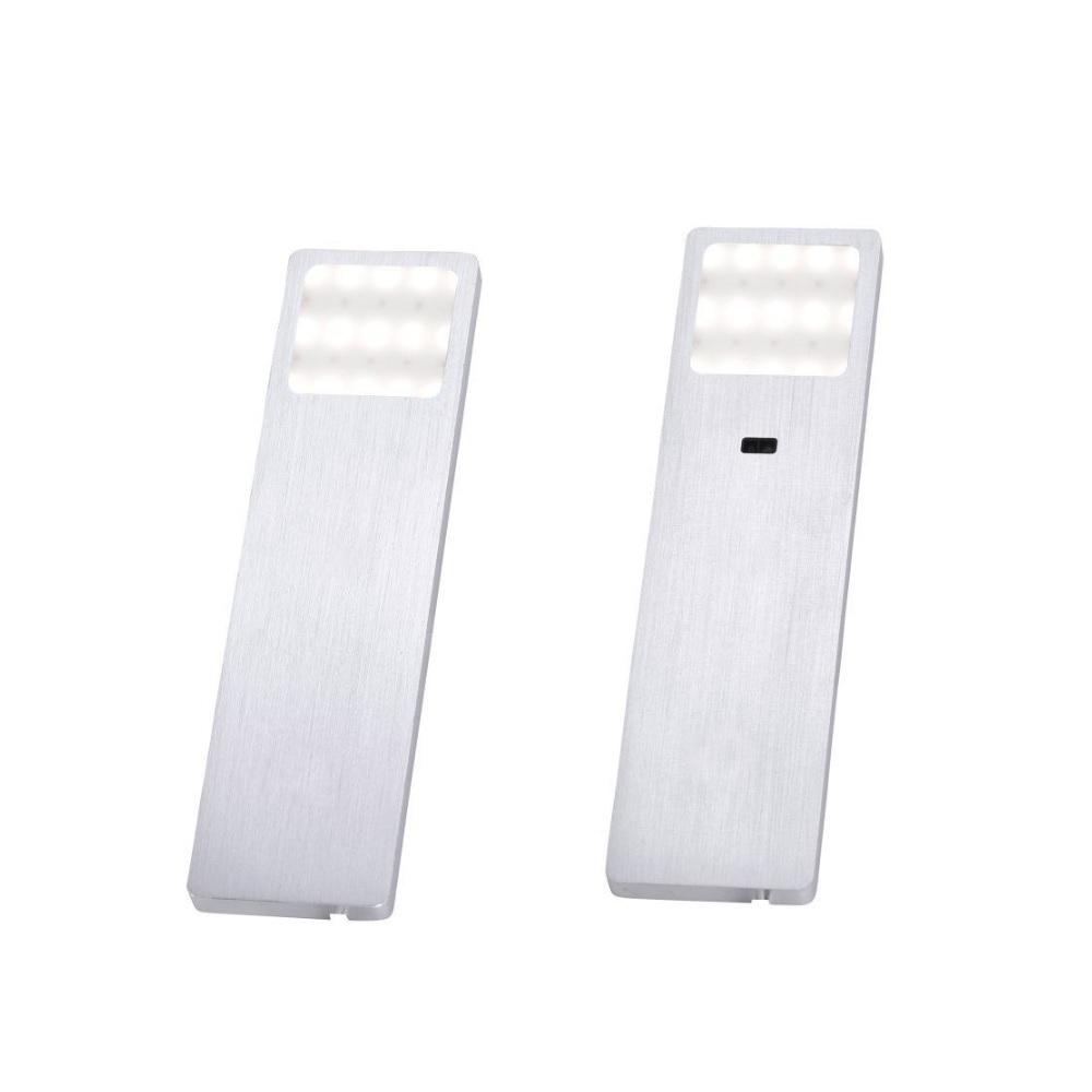 LED Unterbauleuchte, Aluminium, 2er o. 3er Set, Kabel 180cm, warmweiß