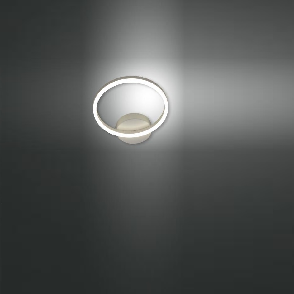 LED Wandleuchte Giotto Metall Ø 30cm in weiß