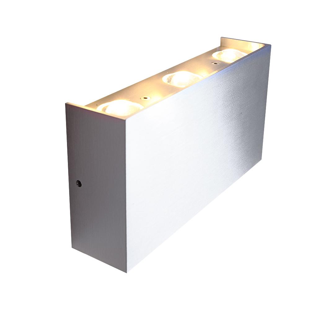LHG LED Wandleuchte, Innen & Außen, Up & Down, eckig, LED tageslichtweiß