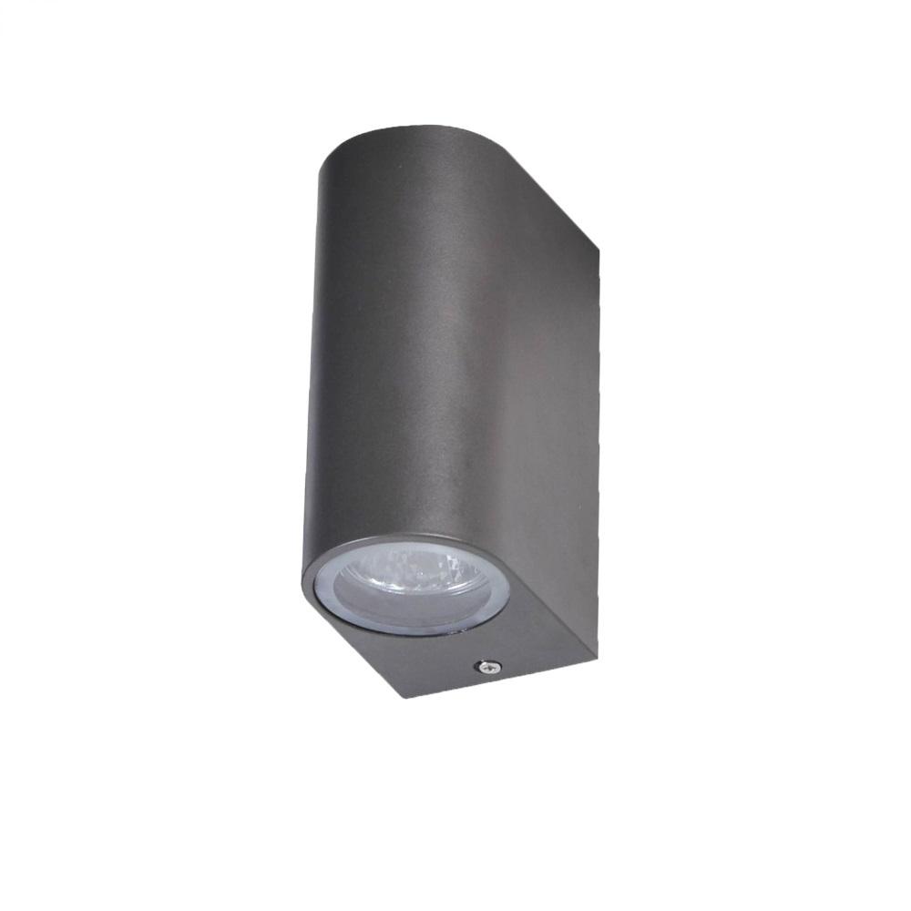 LHG LED Wandleuchte, schwarz Aluminiumdruckguss