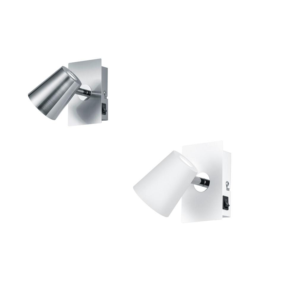 LED Wandstrahler Narcos - Nickel matt oder Weiß