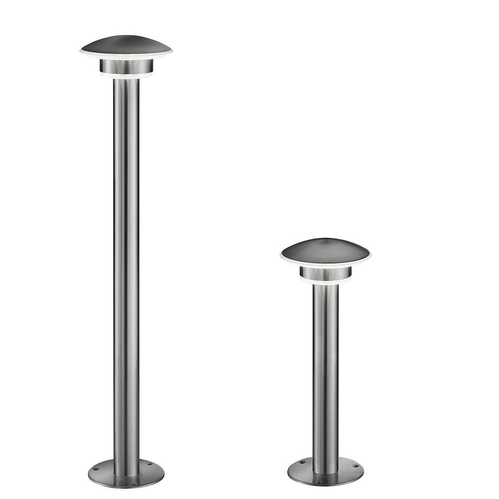 LED Wege- oder Sockelleuchte - 2 Größen - Edelstahl - Kunststoff - Inklusive LED