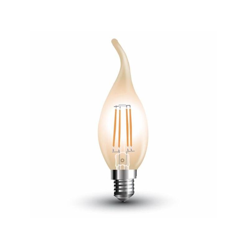Apollo-LED LED Windstoßkerze Filament E14, 4 Wa...
