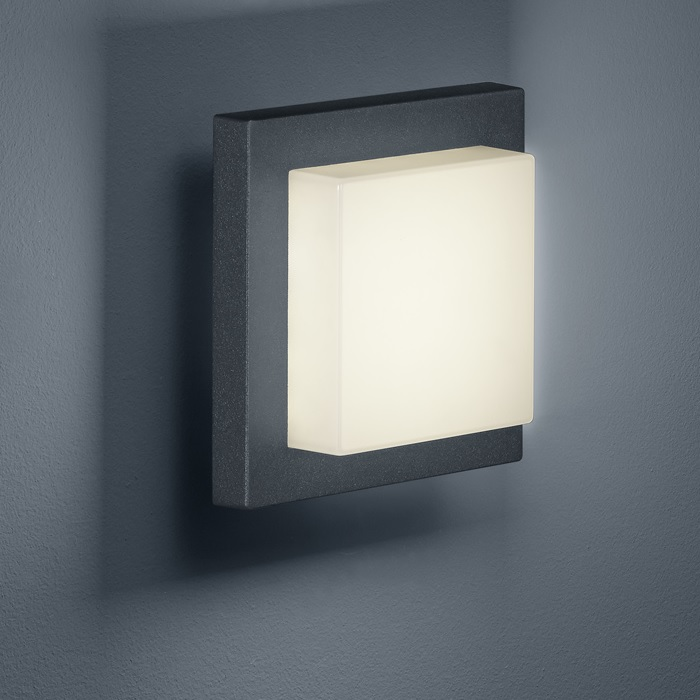LHG LED-Außen-Wandleuchte Anthrazit, LED 3,5 Watt