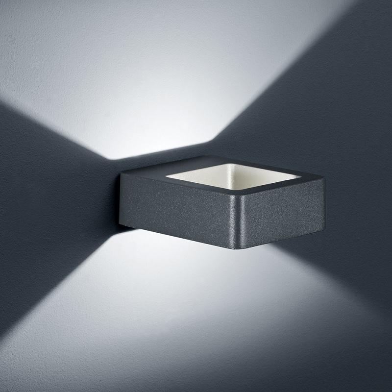 Trio LED-Außen-Wandleuchte Reno in anthrazit Re...