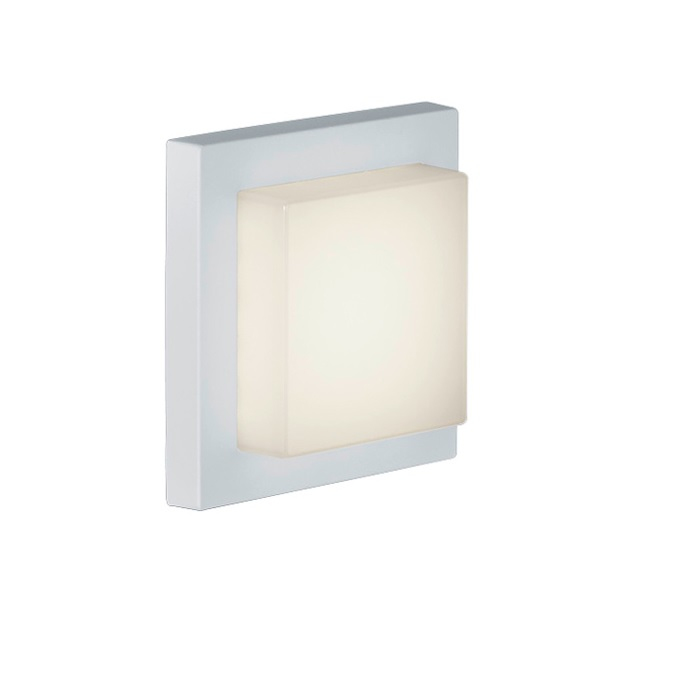 LHG LED-Außen-Wandleuchte weiß, Inklusive LED 3,5 Watt