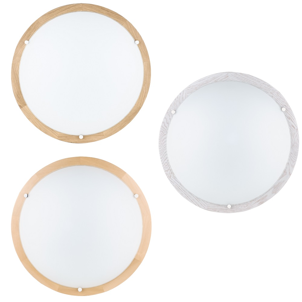 LED-Deckenleuchte aus Holz, Ø 45 cm, Holzfarbe wählbar