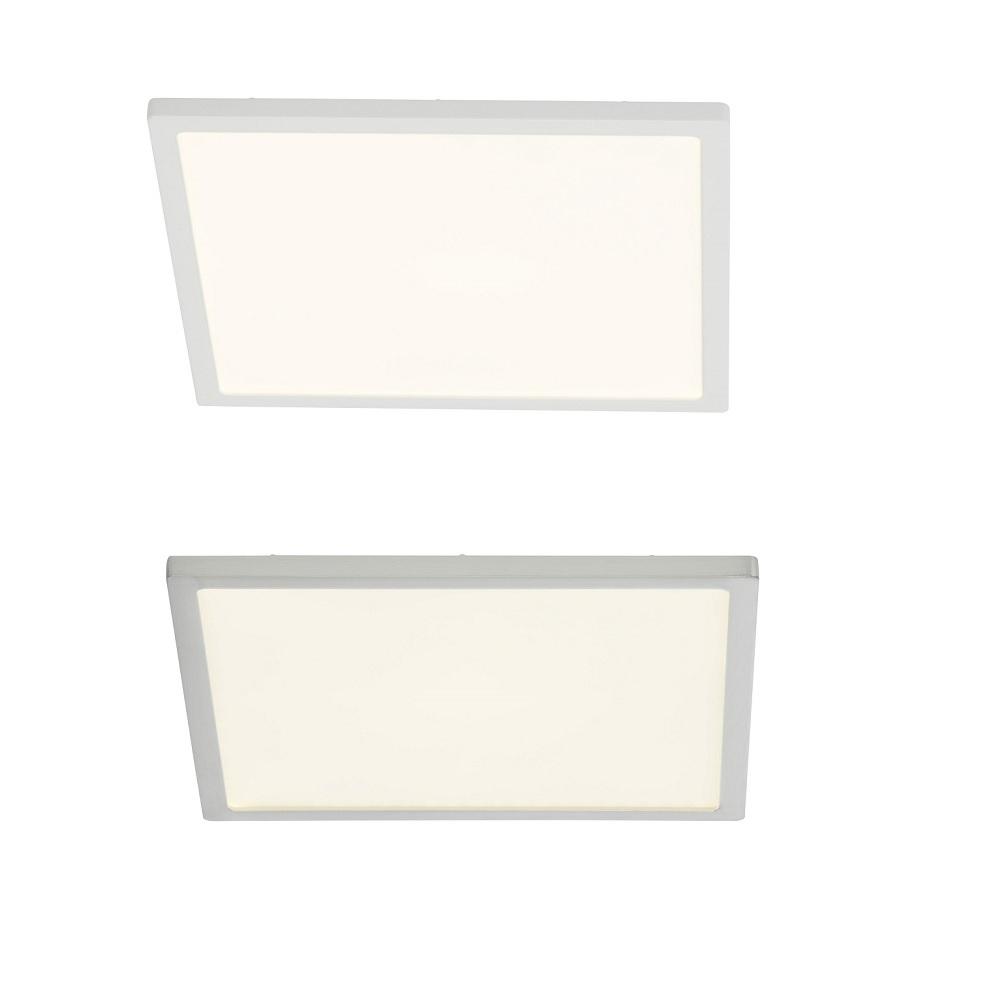 LED-Deckenleuchte Ceres 25 x 25 cm - Weiß oder Nickel satiniert