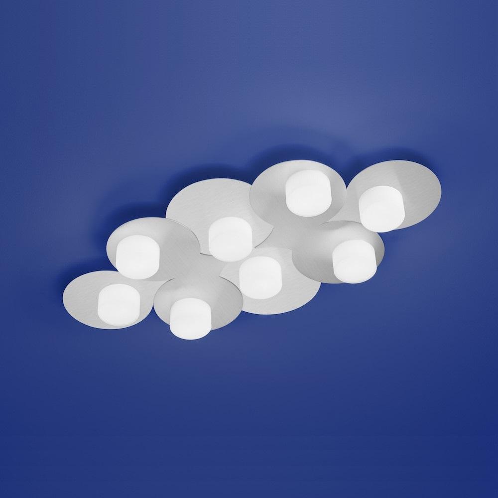 LED-Deckenleuchte Cloud Nickel-matt von B-Leuchten