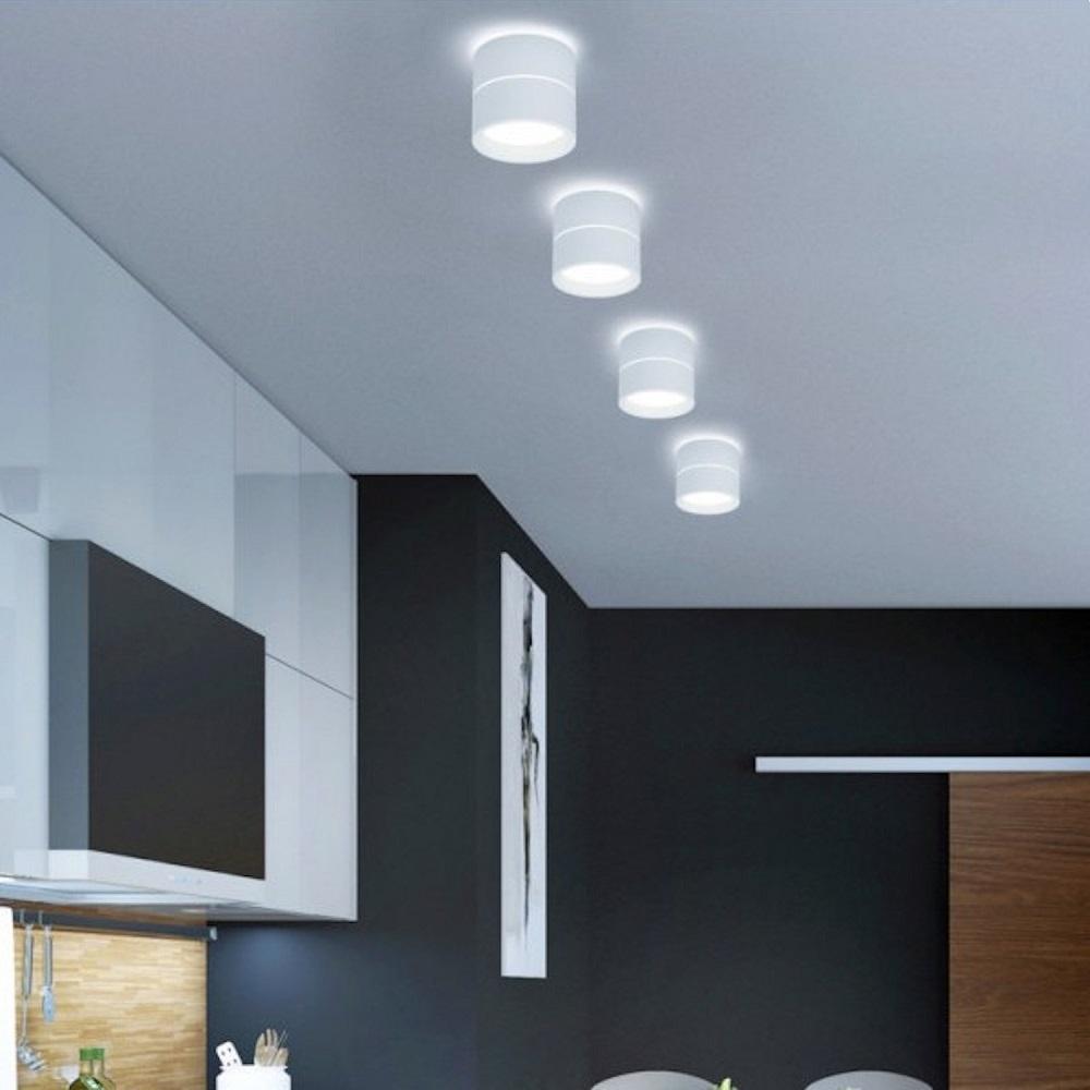 LED-Deckenleuchte Juna in 2 Größen, weiß lackiert