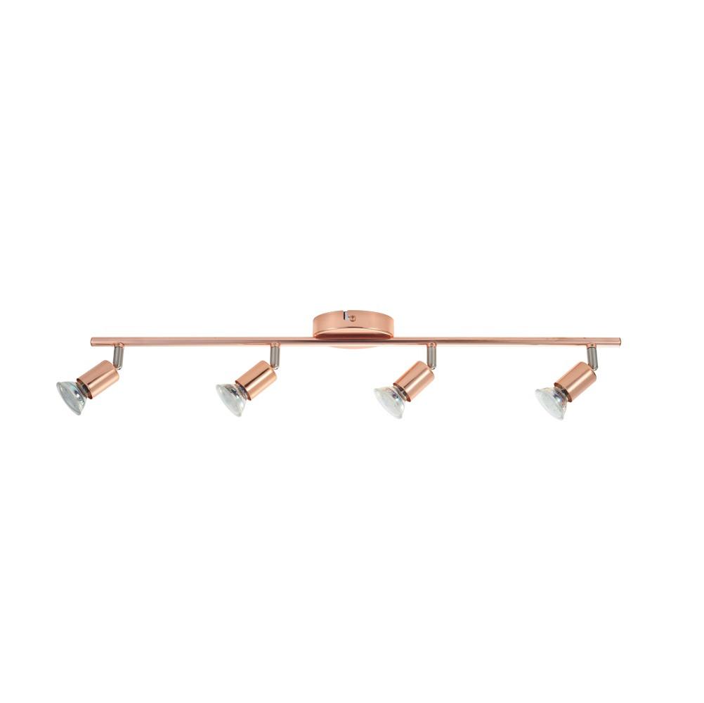 EGLO LED-Deckenleuchte in kupferfarbig, 4-flamm...