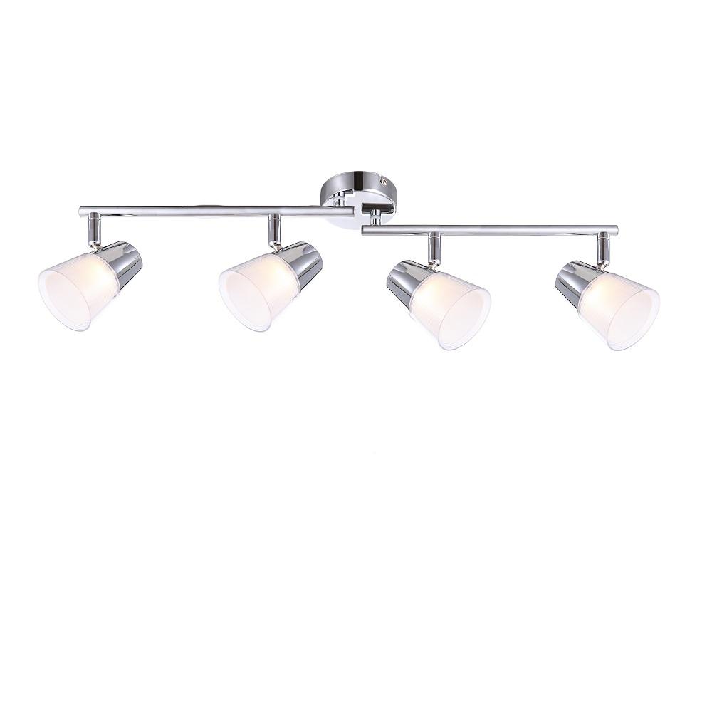 LHG LED-Deckenleuchte mit Kunststoffglas 4x 3W + LED-Taschenlampe