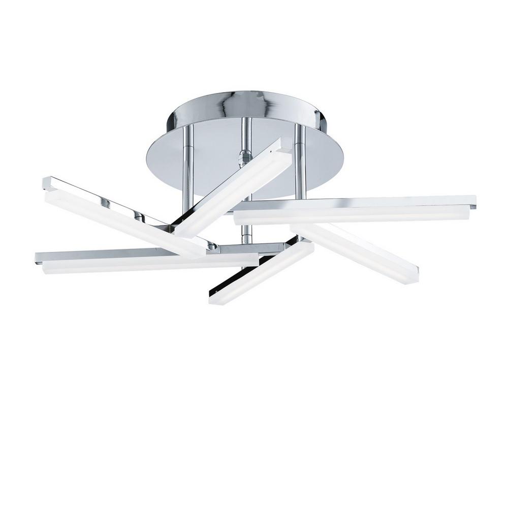 LED-Deckenleuchte - Chrom - Acrylglas gefostet - Inklusive LED